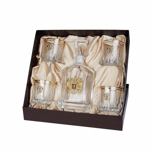 Подарочный набор для виски Герб России-2