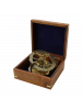 Морской компас в квадратном деревянном футляре NA-1631-B