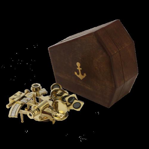 Морской секстант в деревянном футляре NA-1802-SB