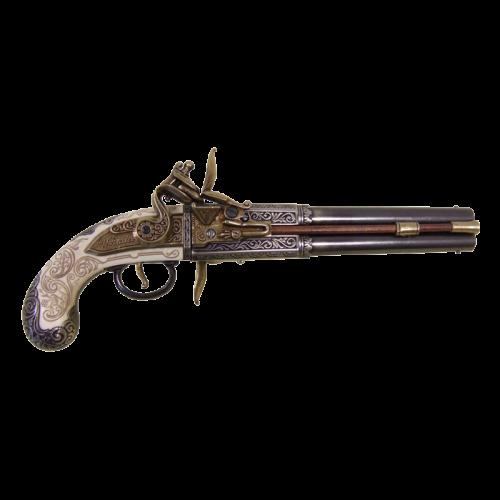 Макет 2-х ствольного пистоля Роловер Англия 1750 г DE-1264