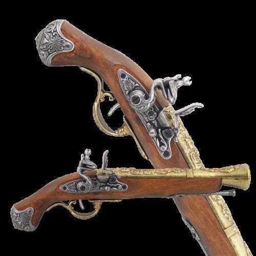 Макет английского пистоля 18 в латунь DE-1219-L
