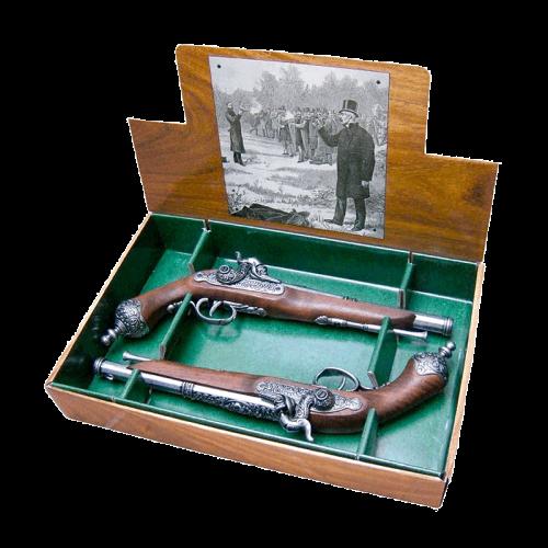 Макет дуэльных пистолей Италия 1825 г DE-1013-2-G