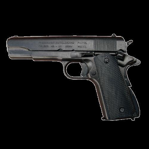 Макет пистолета Кольт 45 калибра черный DE-1227