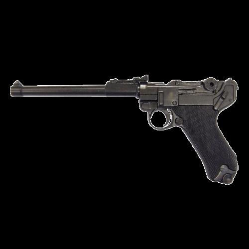 Макет пистолета Люгер Парабеллум артиллерийский рукоять пластик DE-1145