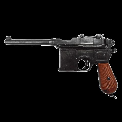 Макет пистолета Маузер 1896 г рукоять дерево DE-M-1024