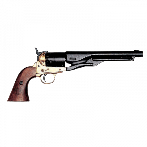 Макет револьвера Кольт 1860 г латунь DE-1007-L