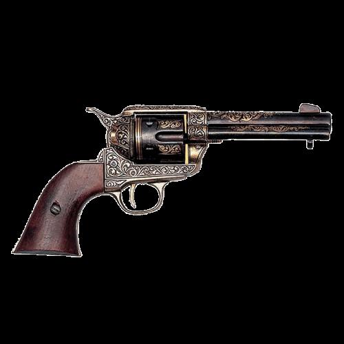 Макет револьвера Кольт 45 калибра гравировка DE-M-1280-L