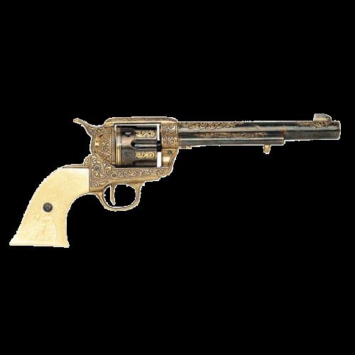 Макет револьвера Кольт кавалерийский 45 калибра гравировка DE-B-1281-L