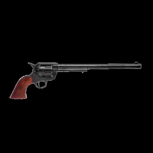Макет револьвера Кольт Миротворец 45 калибра длинный черный ствол DE-7303