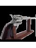 Макет револьвера Кольт Миротворец 45 калибра длинный серебристый ствол DE-6303