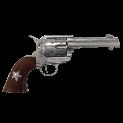 Макет револьвера Кольт Миротворец 45 калибра со звездой DE-1038