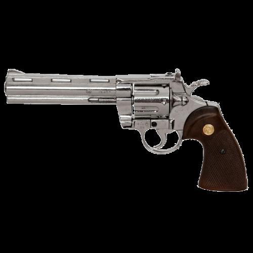 Макет револьвера Магнум 6-ти дюймовый серебристый DE-6304