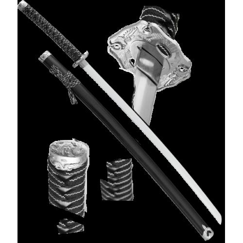 Макет самурайского меча катана ножны черные D-50024-BK-KA