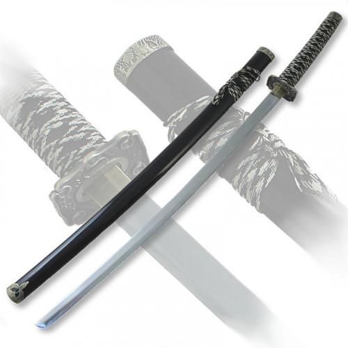 Макет самурайского меча катана ножны черные цуба медь D-50012-2-BK-KA