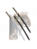 Набор самурайских мечей 2 шт. черные ножны цуба бронза D-50013-BK-KA-WA