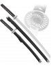 Набор самурайских мечей 2 шт. черные ножны цуба классика D-50044-KA-WA