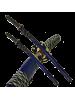 Набор самурайских мечей 2 шт. ножны темно синие D-50012-3-KA-WA