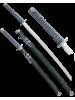 Набор самурайских мечей 2 шт. ножны зеленый мрамор D-50015-KA-WA