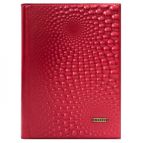 Ежедневник в коже Bobbles красный