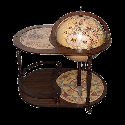 Глобус бар со столиком D=42см перламутр