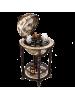 Напольный глобус бар D=40 см светлый