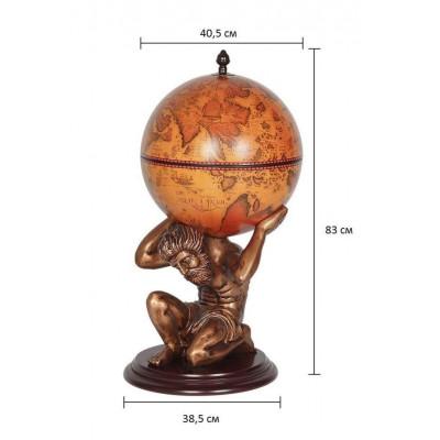 Напольный глобус бар D=42 см Атлант