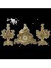 Каминный гарнитур Маленькая леди BP-27078-14073-D