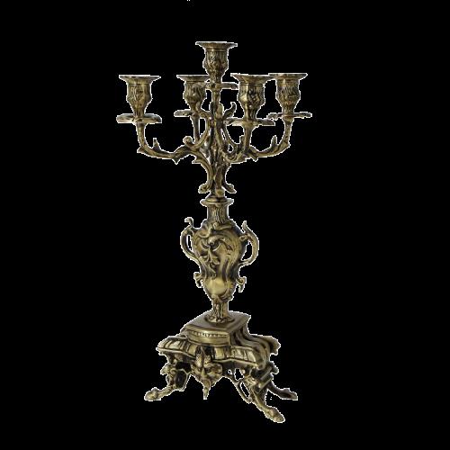 Канделябр на 5 свечей Каранка антик