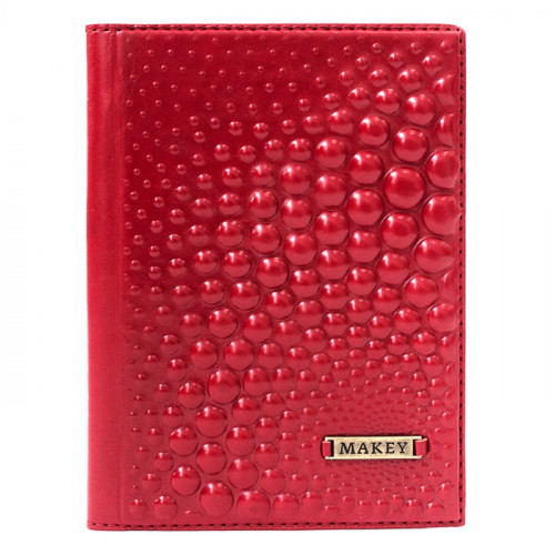 Обложка для паспорта Bubbles красная 009-08-50/2