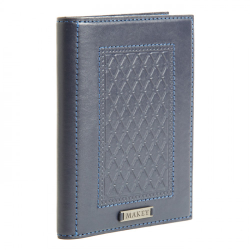 Обложка для паспорта Монархия синяя 009-10-08/4