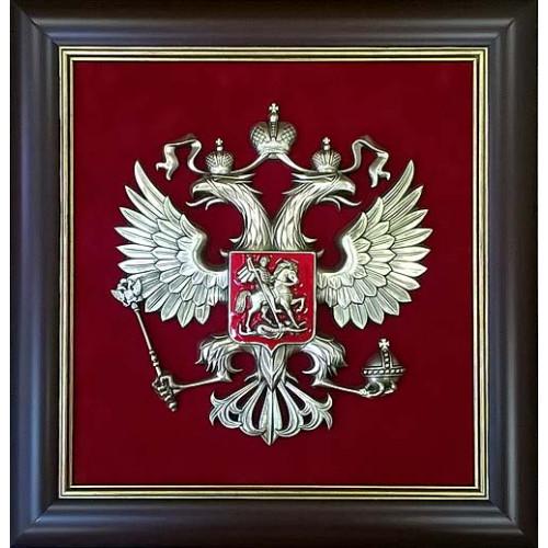 Плакетка Герб России 43х46 см 15-101