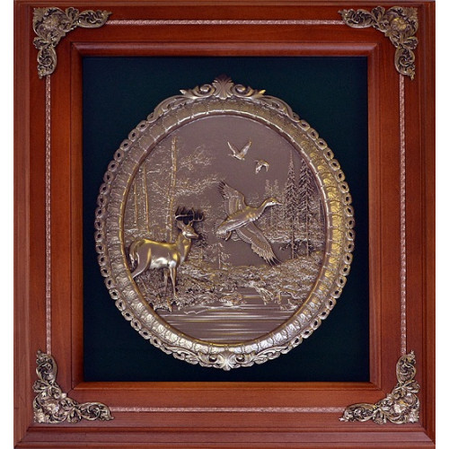 Ключница деревянная Охота Олень 18-319
