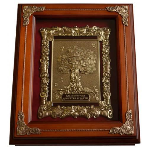 Деревянная ключница большая Денежное дерево 15-263