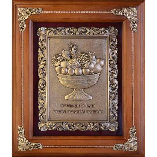 Ключница деревянная большая Чаша изобилия 14-211