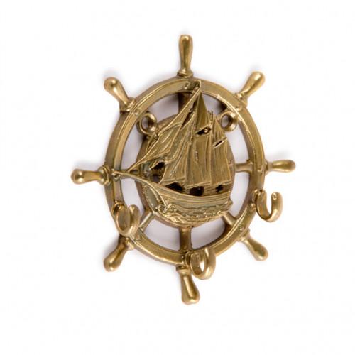 Настенная ключница открытая Штурвал-Парусник