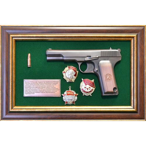 Панно с пистолетом ТТ и наградами СССР 18-335