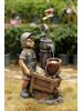 Фонтан для дачи Мальчик с тачкой Н=60 см WXF-03997