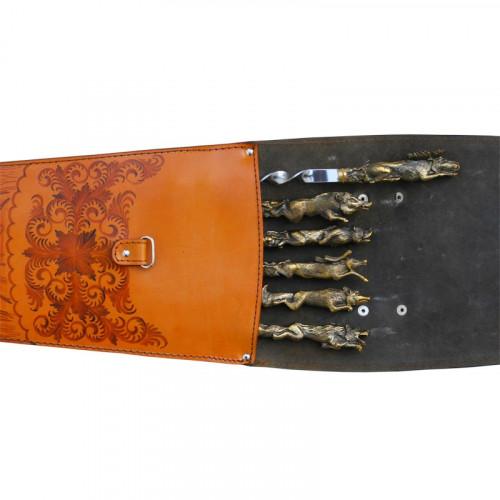 Шампуры в колчане Звери литье 373РА6