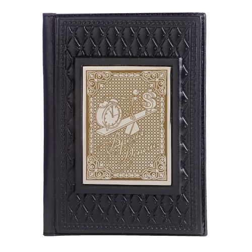 Обложка для паспорта Время - деньги черн. 009-13-12А