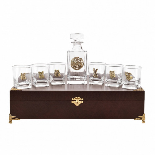 Набор бокалов для виски 6 шт. с графином Охота арт. 10056558