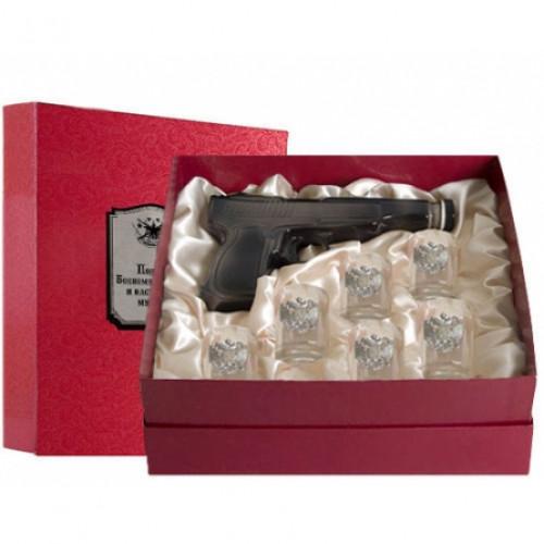 Набор для водки штоф пистолет Боевому товарищу арт. 050203039