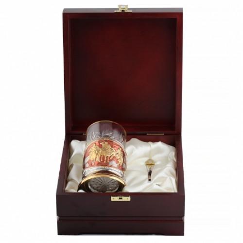 Подстаканник Три богатыря эмаль, футляр 150402001