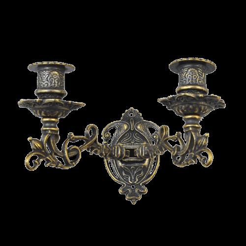 Канделябр настенный на 2 свечи антик AL-82-259-ANT