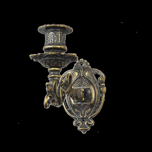 Подсвечник настенный на 1 свечу античный AL-82-258-ANT
