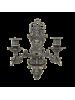 Подсвечник настенный на 2 свечи фигурный антик AL-82-262-ANT