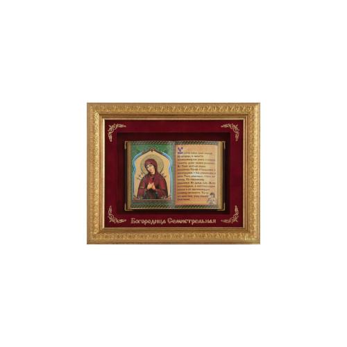 Православное панно Богородица Семистрельная малое E-21