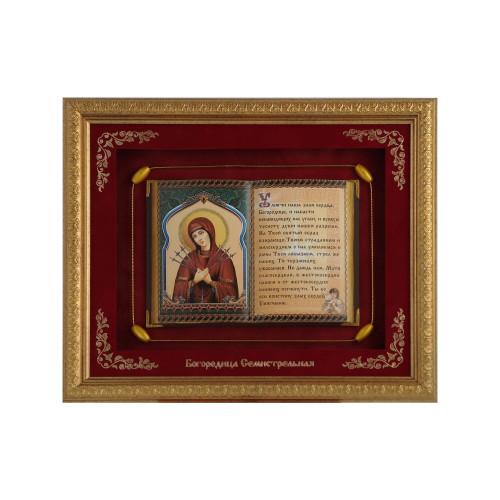 Православное панно Богородица Семистрельная большое F-21