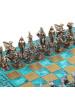 Шахматы Древняя Спарта доска орнамент патина MP-S-16-B-28-MTIR