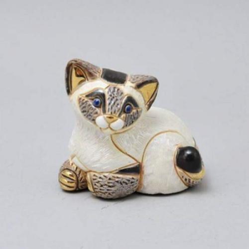 Статуэтка Сиамский котенок клубком DR-F322-B